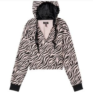 VS Cropped Fleece Hoodie